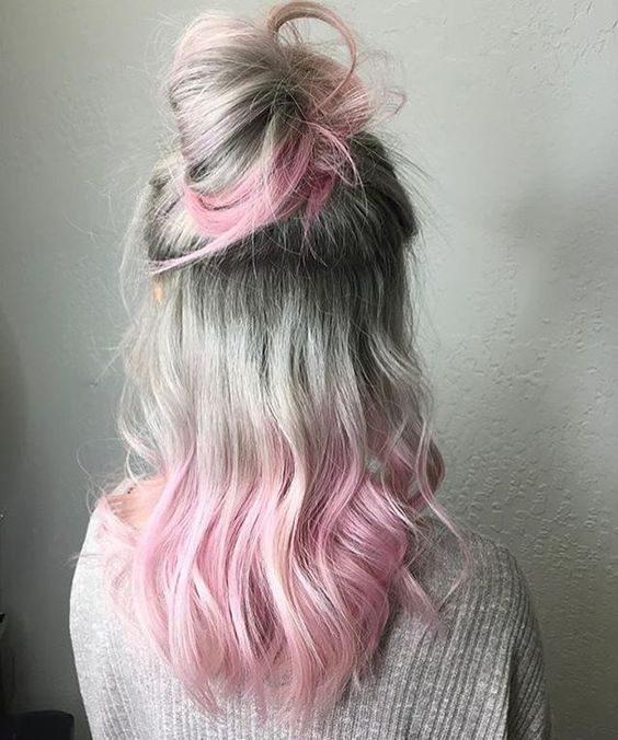 Inspiração: cabelo rosa