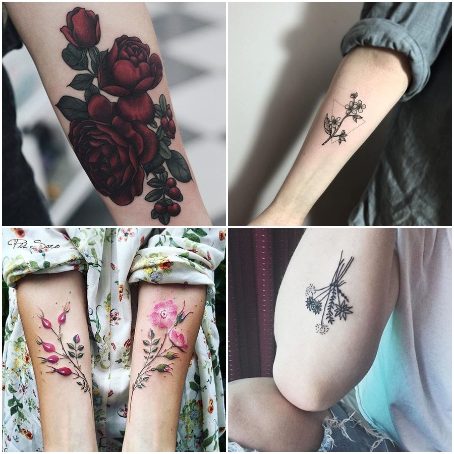 Inspirações: tatuagens com flores