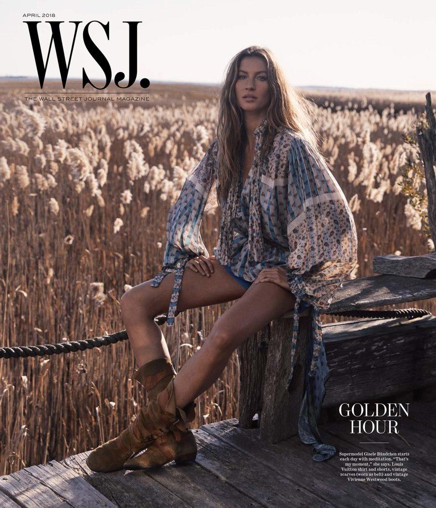 Gisele Bündchen usa boho chic para a WSJ Magazine