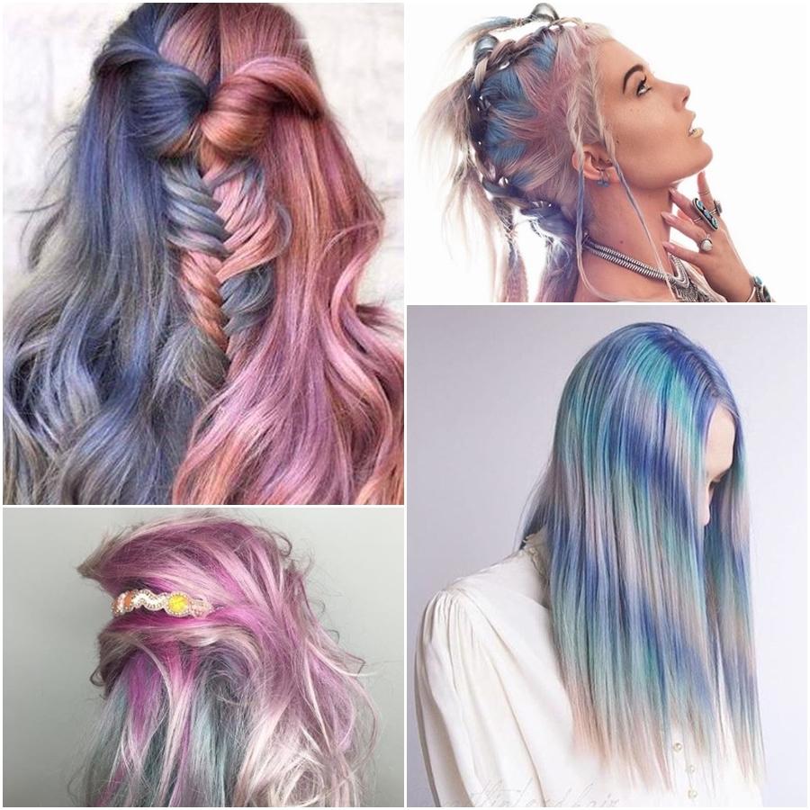 Tie Dye cabelo cabelo colorido tendência moda técnica3