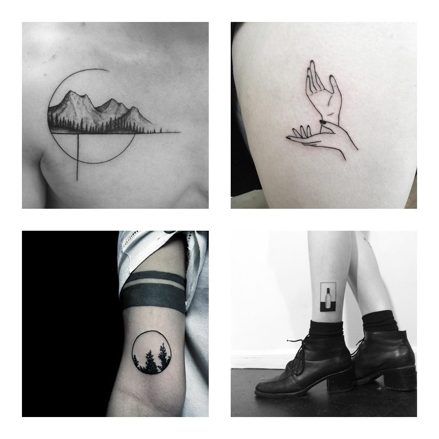 Referência e inspiração: Tatuagens minimalistas