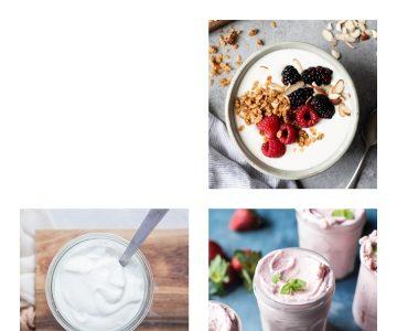 3 receitas de iogurtes funcionais
