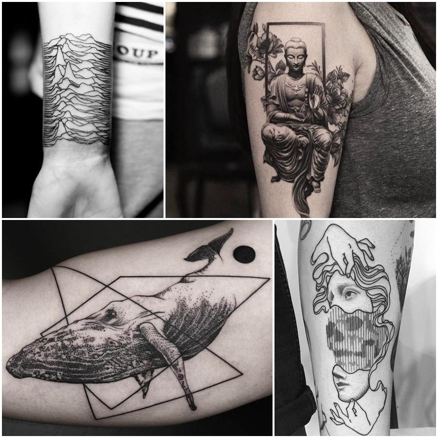 Blackwork Tattoo Presença E Personalidade Em Forma De