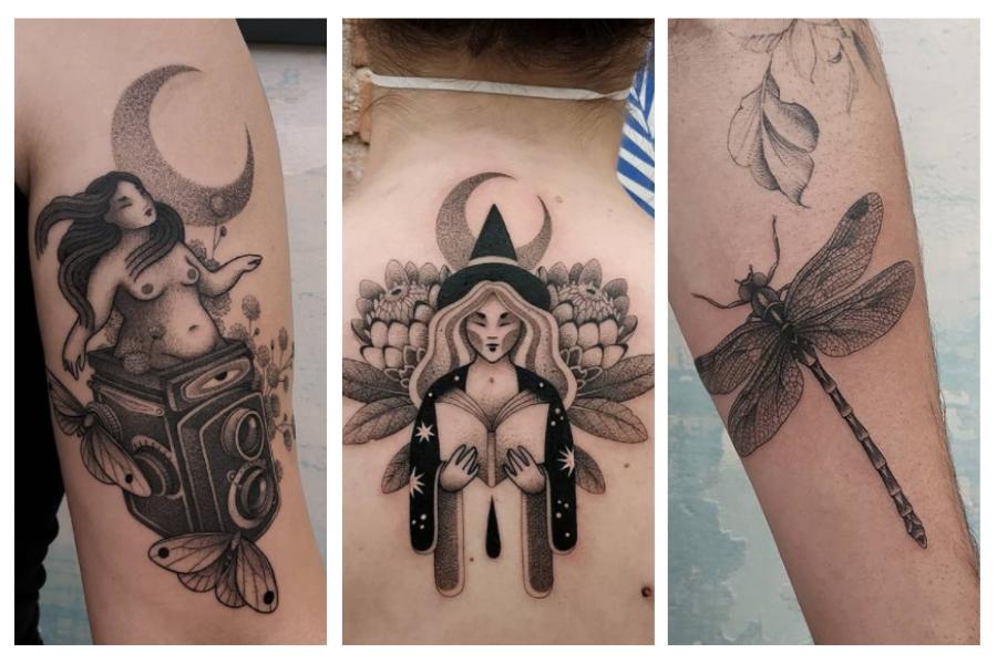 tatuagem contemporânea black work black tattoo